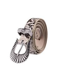 [28% OFF] <b>Carved</b> Retro Buckle Snakeskin <b>Print PU Leather</b> Belt ...