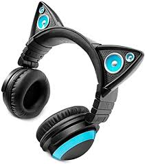 Brookstone Wired Cat Ear Headphones: Electronics - Amazon.com