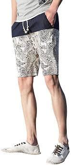 <b>Summer Beach</b> Shorts Ethnic Style Printed Loose Hemp Beach ...