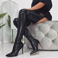 <b>Women's Boots</b>- 50% Off <b>New</b> 2019 PU Long Thigh High <b>Boots</b> ...