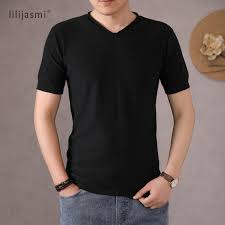 2020 Quality <b>Men's 100</b>% <b>Cotton Knitted</b> V neck <b>T shirt</b> Cozy Nature ...