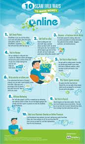 how to make money online infographics 10 scam ways to make money online infographic infographic transcript become a lance article writer