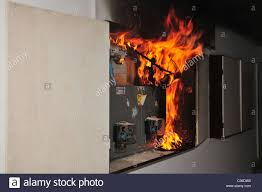 a fire broke out in a household electrical fuse box flames a fire broke out in a household electrical fuse box flames consumed the board photographed in