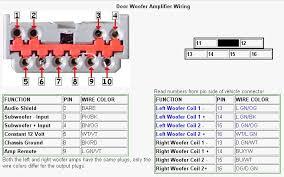 factory amp subwoofer wiring diagram help ford explorer and using the numbers in the above image the harness in my 2006 goes like this