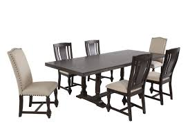seven piece dining set: winners only xcalibur seven piece espresso dining set