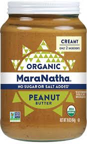 <b>Organic Peanut Butter</b> Creamy | No Sugar Or Salt Added | MaraNatha