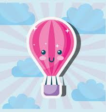 <b>Kawaii Hot Air</b> Balloon Vector Images (over 130)