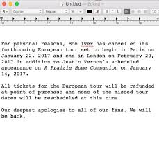 bon iver on it s great regret that we must announce bon iver on it s great regret that we must announce the cancellation of our forthcoming european tour and justin s appearance on