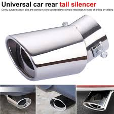 Car Parts 1Pcs Curved <b>Exhaust Muffler Tail</b> Pipe Tip Tailpipe for ...