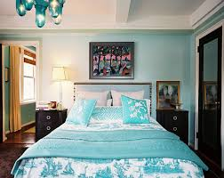 contrasts soothing blue green bedroom