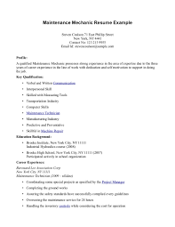 resume for maintenance laveyla com maintenance mechanic resume getessay biz