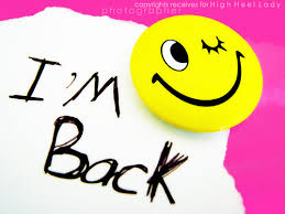 Image result for i'm back