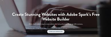 website builder create your own website for adobe spark