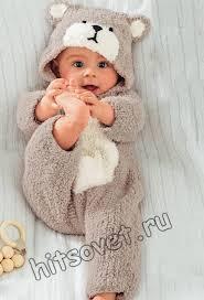 Вязание спицами для малышей комбинезона <b>Мишка</b> со схемами ...