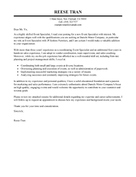 cover letter sales leading professional event specialist cover perfect cover letter template