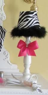 elyses dream room lamp hot pink black white zebra light funky rock by sozoeyboutique 1890 black white zebra bedrooms