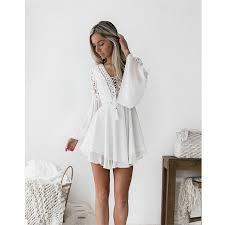 new Girls <b>White</b> Summer Bohemian Mini Dress <b>Women</b> Fashion ...