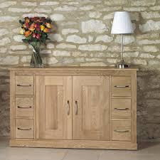 baumhaus mobel solid oak six drawer sideboard cor02b baumhaus mobel solid oak drawer