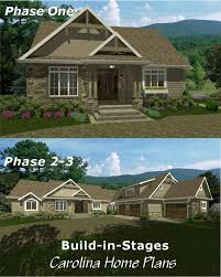 images about Build in Stages on Pinterest   Home Plans    Start out small  end up   bedrooms plus study and garage apartment   this build in stages  expandable craftsman style house plan Interesting idea