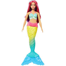 Barbie Dreamtopia <b>Mermaid</b> Doll with <b>Red Hair</b> & Rainbow-Colored ...