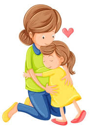 Image result for mom hugging child