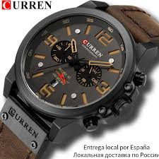 CURREN Mens Watches <b>Top Luxury Brand</b> Waterproof Sport Wrist ...