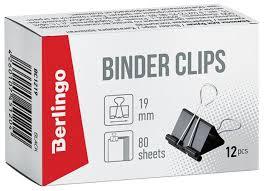 Купить Berlingo <b>Зажимы</b> для бумаг 19мм BC1219 (<b>12 шт</b>.) черный ...