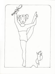 Gymnastics Coloring Sheets Free Amazing Gymnastics Coloring Pages