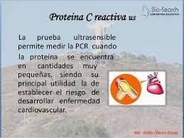 Resultat d'imatges de proteína c reactiva ultrasensible