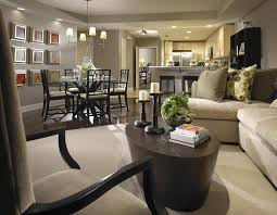 gray beautiful open living room