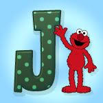 Image result for elmos and letter J
