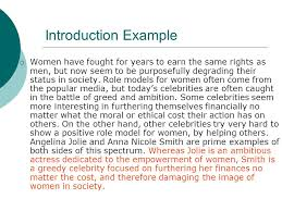 writing the comparison contrast essay introductions    ppt downloadintroduction example  women have fought for years to earn the same rights as men