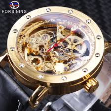 forsining mens new arrival automatic self winding day calendar leather strap brand collection wholesale best wrist watch