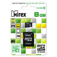 <b>Карта памяти</b> Mirex microSDHC <b>8Gb</b> Class 10 + адаптер (13613 ...