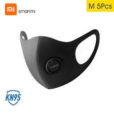 5 Pcs Xiaomi <b>Smartmi KN95</b> Anti-Pollution <b>Face</b> Masks Air Sport ...