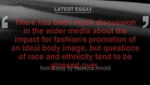 rebecca arnold essay   showstudio   the home of fashion film and  in her political fashion essay fashion historian and theorist dr rebecca arnold examines the subject of race and ethnicity within the fashion industry