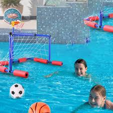 Tomaibaby 1 Set Inflatable <b>Floating</b> Water Pool Toy with Soccer ...