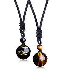 Besteel <b>Jewelry Natural</b> Tiger Eyes <b>Stone Onyx Pendant Necklace</b> ...
