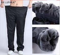 <b>Men's Super</b> Warm Winter Pants <b>Thick</b> Wool Joggers Fleece ...