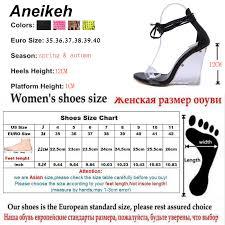 Aneikeh <b>2019</b> Fashion Women Shoes <b>Peep Toe</b> PVC Transparent ...