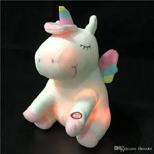 LED <b>Light</b> Up <b>Unicorn</b> Stuffed Animal Toys Christmas Birthday ...