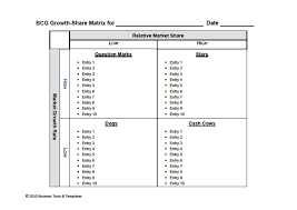 boston consulting group bcg growth share matrix chart templates        boston consulting group  bcg  growth share matrix templates in ms word