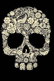 <b>Vintage Floral</b> Sugar <b>Skull</b> iPhone XS Case | Zazzle.com | <b>Skull</b> ...