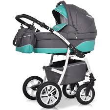 Купить <b>коляску</b> 3 в 1 <b>Riko Modus New</b> 21 серый-зеленый в ...