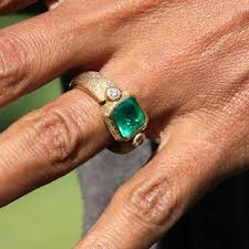 Halle Berry Engagement Ring, emerald engagement ring, halle berry engagement