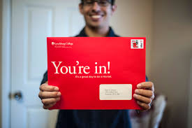college application advice from one student to another the future hornets enjoy acceptance letters in big red envelopes lynchburg college