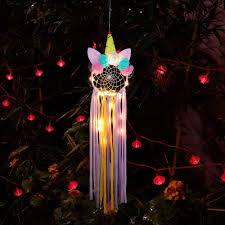 <b>Creative LED</b> Light Unicorn Dreamcatcher <b>Nordic</b> Home Wedding ...