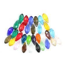 <b>Zhubi</b> 5pcs/lot European <b>Glass</b> Blue <b>Teardrop</b> Beads 12*25mm ...