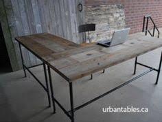 industry reclaimed l shape desk brooklyn industrial office