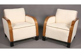 pair french art deco upholstered club chairs j6500 for sale art deco furniture style art deco armchair